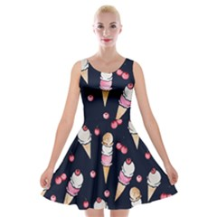 Ice Cream Lover Velvet Skater Dress