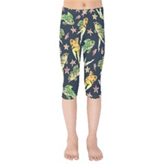 Reverse Mermaids Kids  Capri Leggings