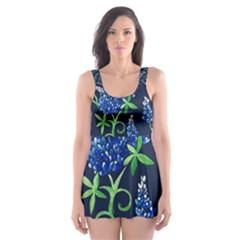 Bluebonnets Skater Dress Swimsuit