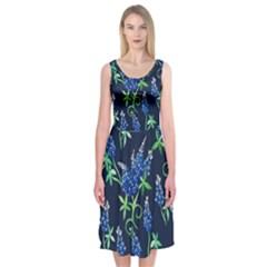 Bluebonnets Midi Sleeveless Dress