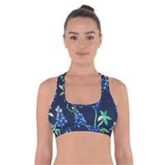 Bluebonnets Cross Back Sports Bra