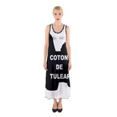 Coton De Tulear Name Silo Sleeveless Maxi Dress