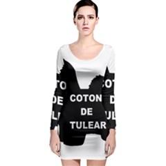 Coton De Tulear Name Silo Long Sleeve Bodycon Dress