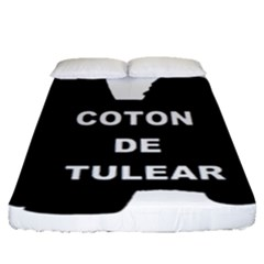 Coton De Tulear Name Silo Fitted Sheet (queen Size)