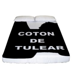 Coton De Tulear Name Silo Fitted Sheet (king Size)
