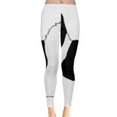 Coton De Tulear Silhouette Color Bw Leggings