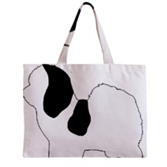 Coton De Tulear Silhouette Color Bw Zipper Mini Tote Bag