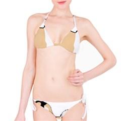 Coton De Tulear Silhouette Color Tri Bikini Set