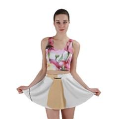 Coton De Tulear Silhouette Color Tri Mini Skirt