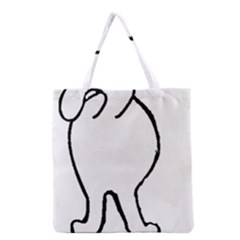 Coton Dog Butt Grocery Tote Bag
