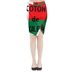 Coton Name Flag Madagascar Midi Wrap Pencil Skirt