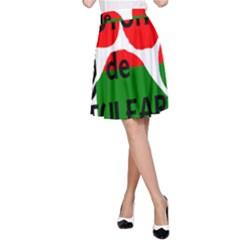 Coton Name Madagascar Paw Flag A Line Skirt