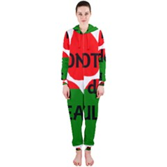 Coton Name Madagascar Paw Flag Hooded Jumpsuit (ladies)
