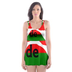 Coton Name Madagascar Paw Flag Skater Dress Swimsuit