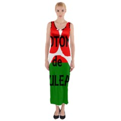 Coton Name Madagascar Paw Flag Fitted Maxi Dress