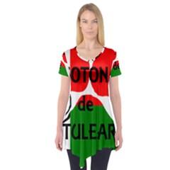 Coton Name Madagascar Paw Flag Short Sleeve Tunic
