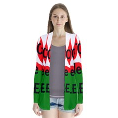Coton Name Madagascar Paw Flag Drape Collar Cardigan