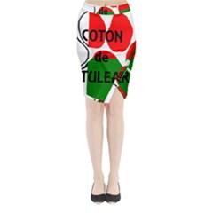 Coton Name Madagascar Paw Flag Midi Wrap Pencil Skirt