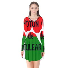 Coton Name Madagascar Paw Flag Flare Dress