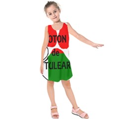 Coton Name Madagascar Paw Flag Kids  Sleeveless Dress