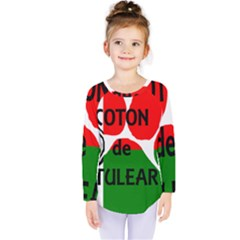 Coton Name Madagascar Paw Flag Kids  Long Sleeve Tee