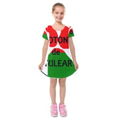 Coton Name Madagascar Paw Flag Kids  Short Sleeve Velvet Dress