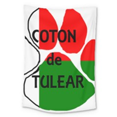 Coton Name Madagascar Paw Flag Large Tapestry