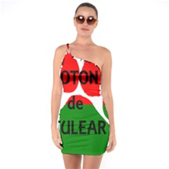 Coton Name Madagascar Paw Flag One Soulder Bodycon Dress