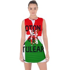 Coton Name Madagascar Paw Flag Lace Up Front Bodycon Dress