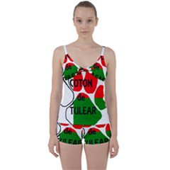Coton Name Madagascar Paw Flag Tie Front Two Piece Tankini