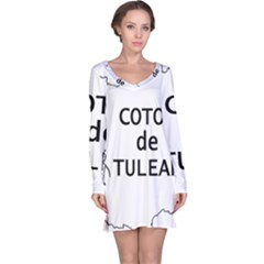 France Outline W Name Long Sleeve Nightdress
