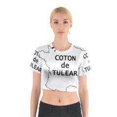 France Outline W Name Cotton Crop Top