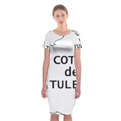 France Outline W Name Classic Short Sleeve Midi Dress