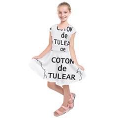 France Outline W Name Kids  Short Sleeve Dress