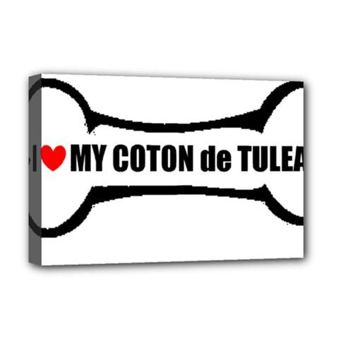I Love My Coton Dog Bone Deluxe Canvas 18  X 12