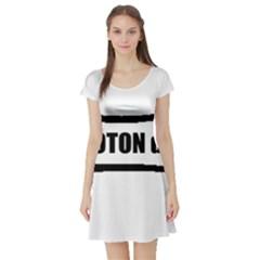 I Love My Coton Dog Bone Short Sleeve Skater Dress