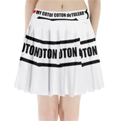 I Love My Coton Dog Bone Pleated Mini Skirt