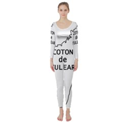 Madagascar Outline With Name Long Sleeve Catsuit