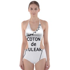 Madagascar Outline With Name Cut Out One Piece Swimsuit