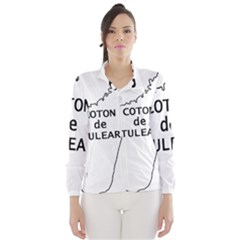Madagascar Outline With Name Wind Breaker (women)