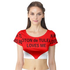 My Coton Loves Me Short Sleeve Crop Top (tight Fit)