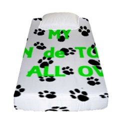 My Coton Walks On Me Fitted Sheet (single Size)