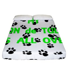 My Coton Walks On Me Fitted Sheet (queen Size)