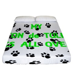 My Coton Walks On Me Fitted Sheet (california King Size)