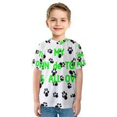 My Coton Walks On Me Kids  Sport Mesh Tee