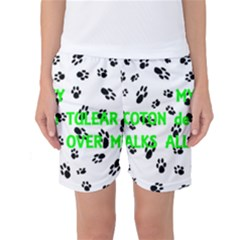 My Coton Walks On Me Women s Basketball Shorts