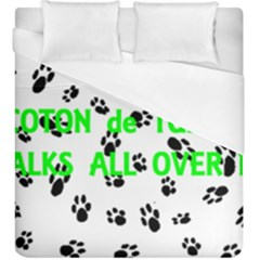 My Coton Walks On Me Duvet Cover (king Size)