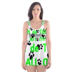 My Coton Walks On Me Skater Dress Swimsuit