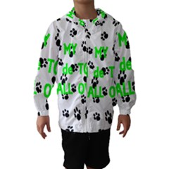 My Coton Walks On Me Hooded Wind Breaker (kids)