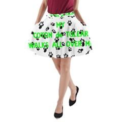 My Coton Walks On Me A Line Pocket Skirt